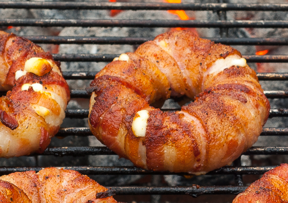 Donut Wrapped in Bacon Bacon-wrapped Pineapple